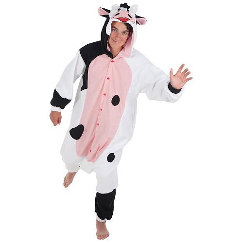 Fantasia adulto engraçada vaca t-l
