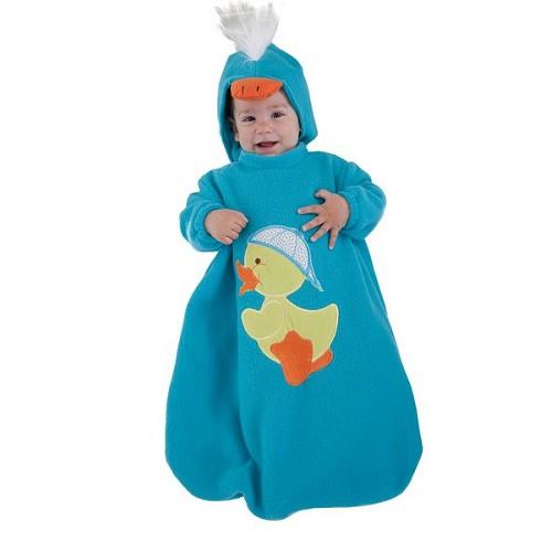 Fantasia de pato de saco do bebê (0 a 12 meses)