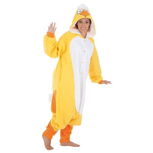 Fantasia adulto galinha engraçada t-l