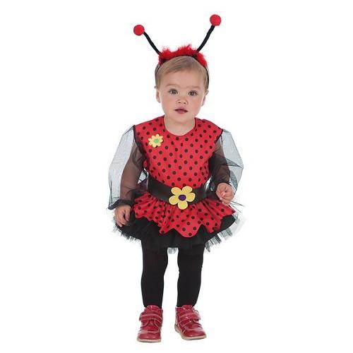 Fantasia joaninha menina (0-12 meses)