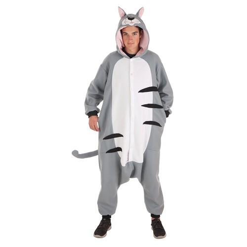 Fantasia adulto engraçado gato t-l