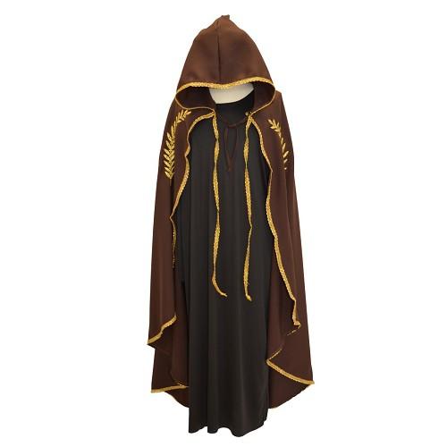 Camada Marian Brown bordada a ouro T-Xl