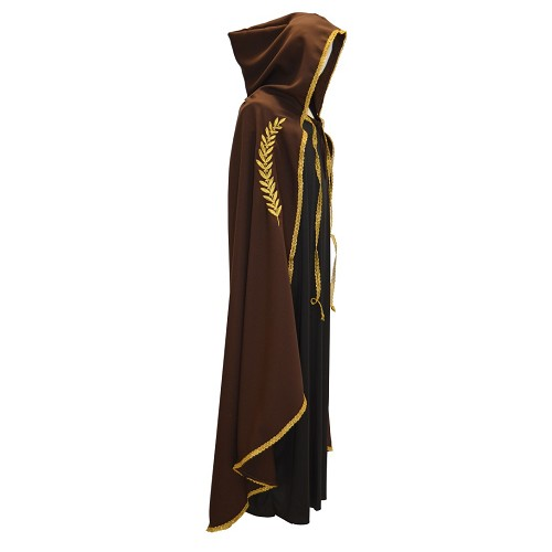 Marian casaco marrom ouro bordado t-l