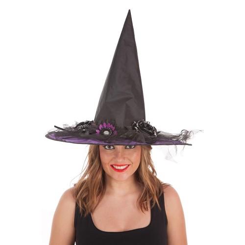 Lilás de flores do chapéu bruxa