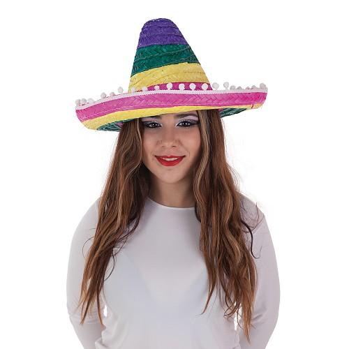 Cores mexicanas de chapéu