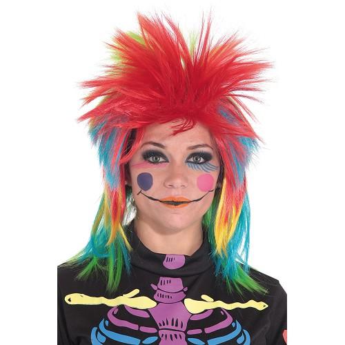 Multi-colored menina peruca Punk