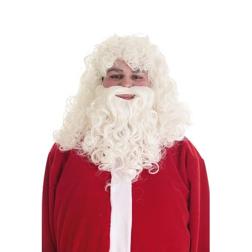Peruca e barba de Papai Noel Lux
