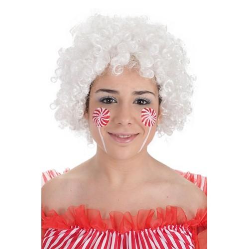Peruca Afro branco