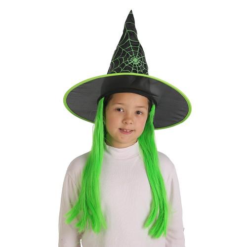 Filho de bruxa chapéu com cabelo