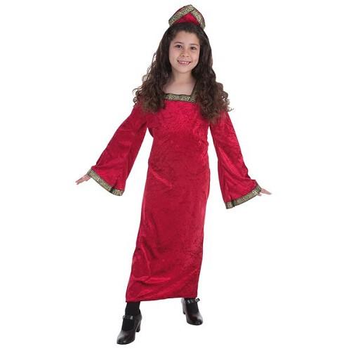 Fantasia infantil de princesa medieval