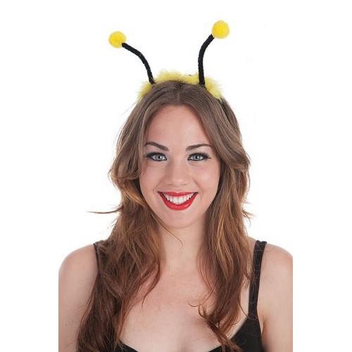 Bandana de antenas amarelo