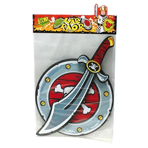 Escudo e espada de pirata Eva 35 * 2 * 48 cm