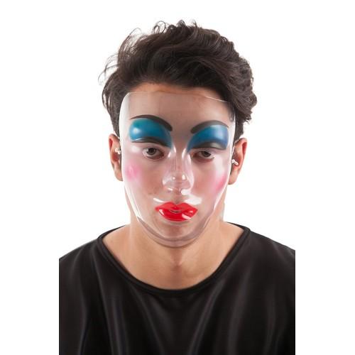 Festa da máscara transparente