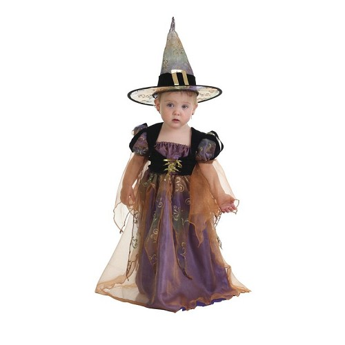 Fantasia bebê bruxa fretwork (0 a 12 meses)