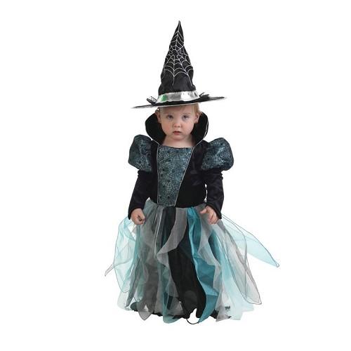 Fantasia de bruxa bebê azul (12 a 24 meses)