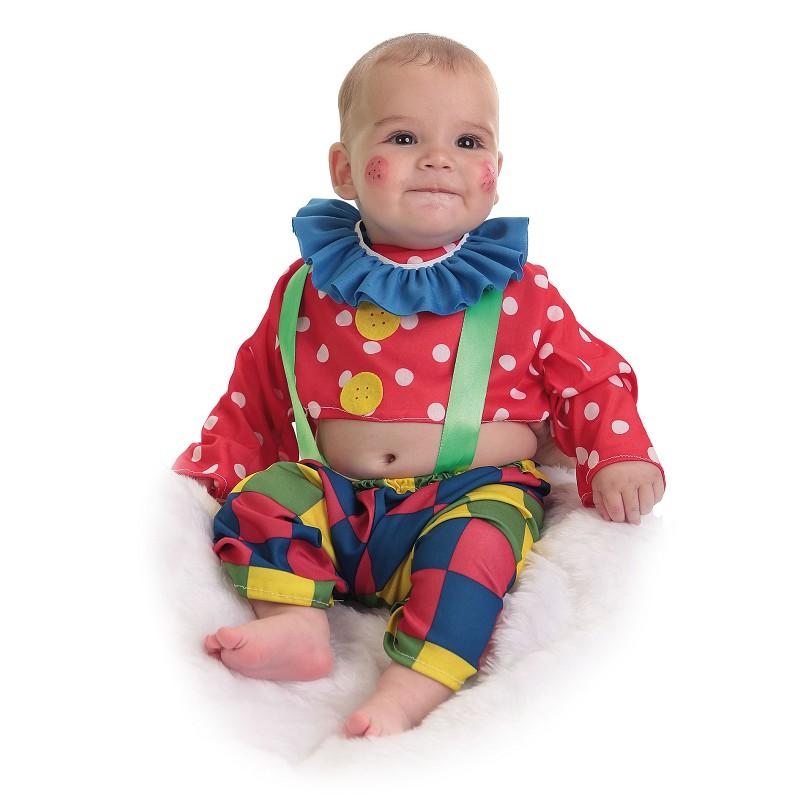 Palhaço bebê de traje Spotty (0 a 12 meses)