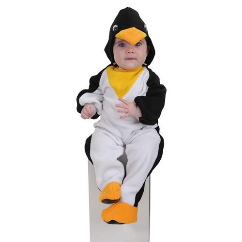 Bebê pinguim de fantasia (0 a 12 meses)