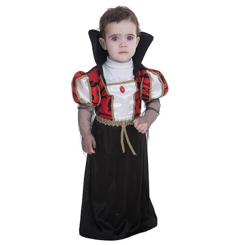Fantasia de Vampira gótica de bebê (0 a 12 meses)