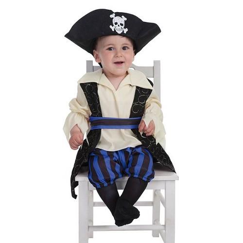 Bebê fantasia pirata Brocade (0 a 12 meses)