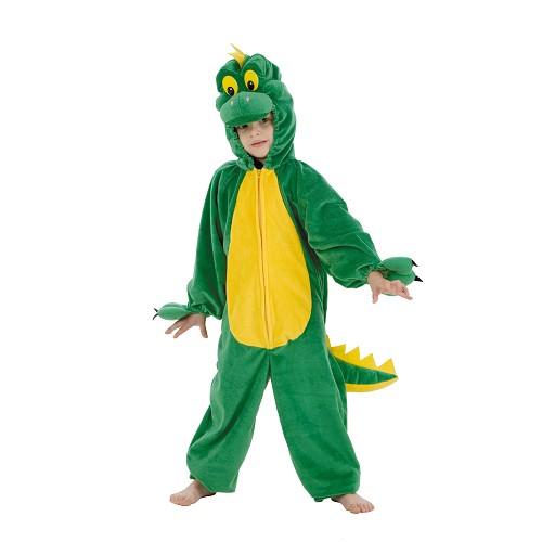 Criança Dsifraz Dino Verde