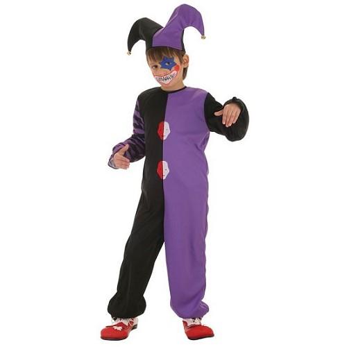Palhaço de criança traje Bicolor