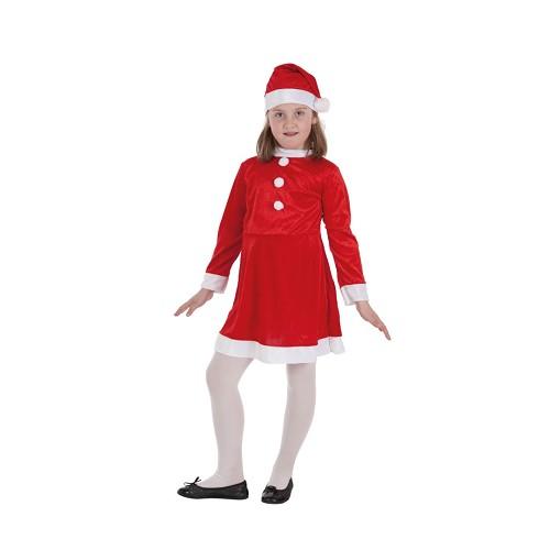 Criança fantasia Mamãe Noel
