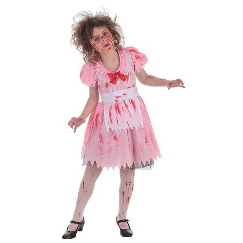 Fantasia de criança Zombie girl