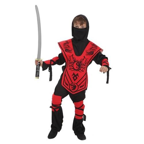 Criança traje Samurai Yin-Yan