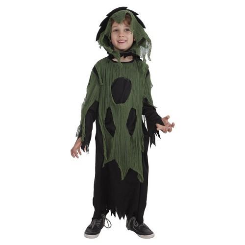 Túnica de criança traje vestido verde