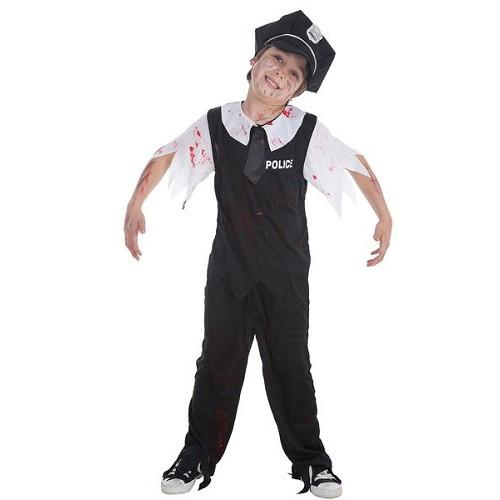 Polícia de criança traje Zombie