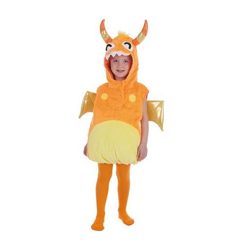 Infantil fantasias Orange Monster 5 / 6 anos