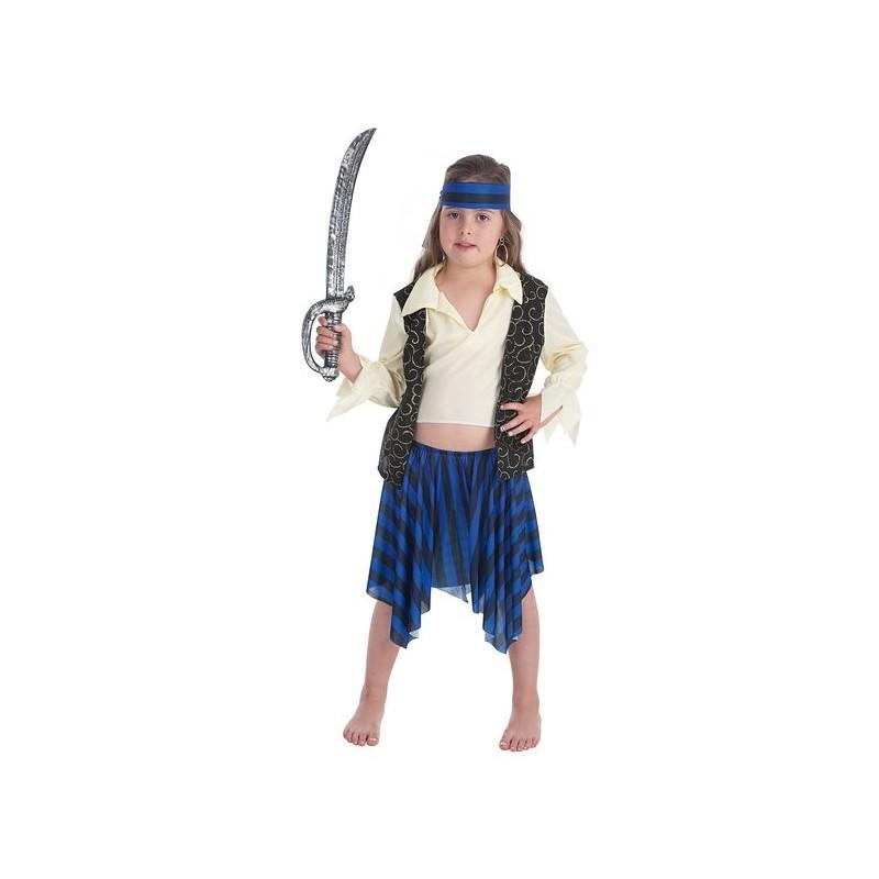 Fantasia de pirata infantil de brocado