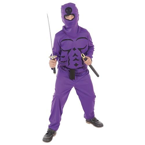 Criança traje lilás Ninja