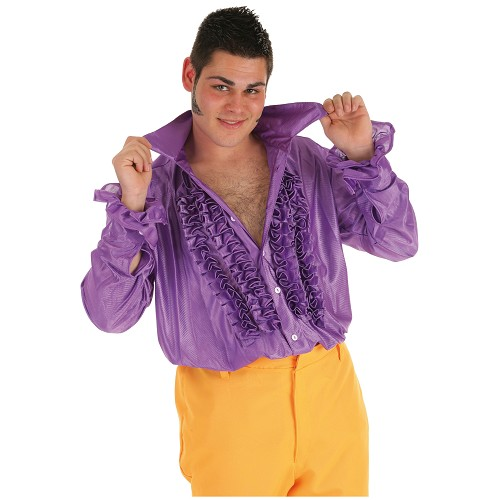 Camisa fantasia lilás de dança