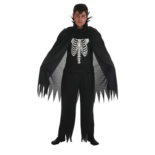 Fantasia adulto vampiro preto