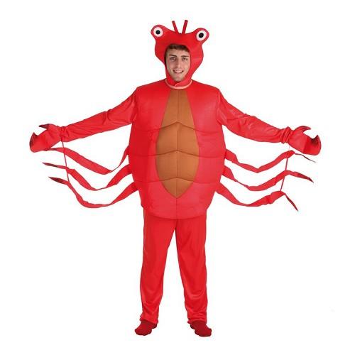 Caranguejo vermelho traje adulto