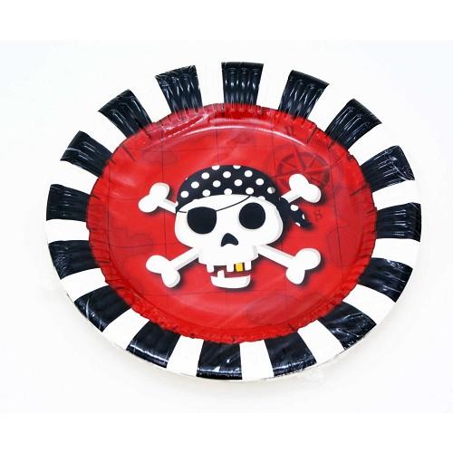 Pratos pirata 20cm
