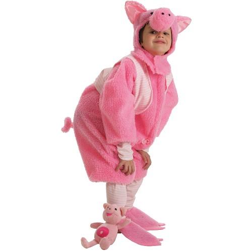 Fantasia infantil de porco pequeno