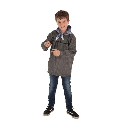 Fallas de blusa preta listras-criança