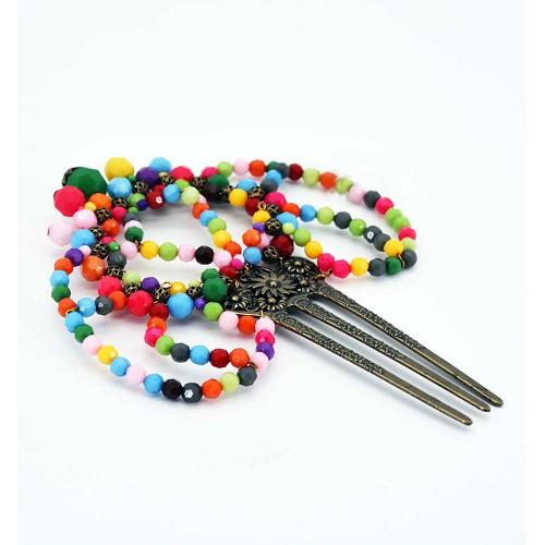 Pente grande multicoloridos 21 cm