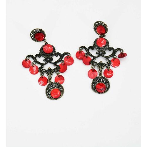 Brincos vermelhos 13 cm