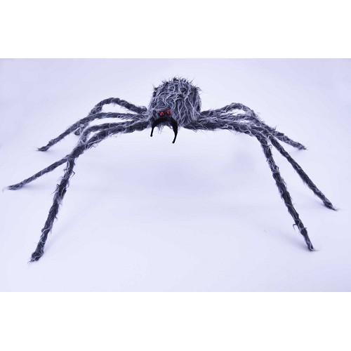 H0048 aranha cinza 97 cm peludo