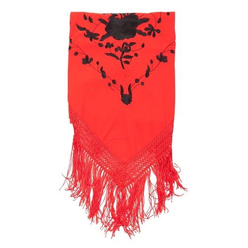 Xaile bordado vermelho Málaga