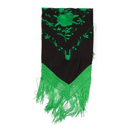 Xaile bordado verde Málaga