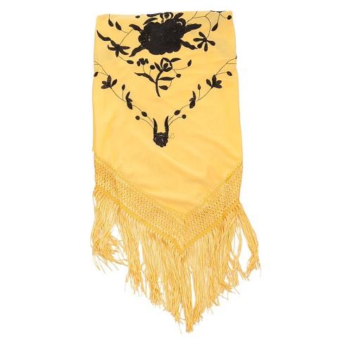Xaile bordado amarelo de Málaga