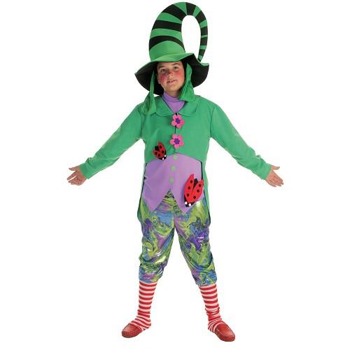 Duende de criança traje verde