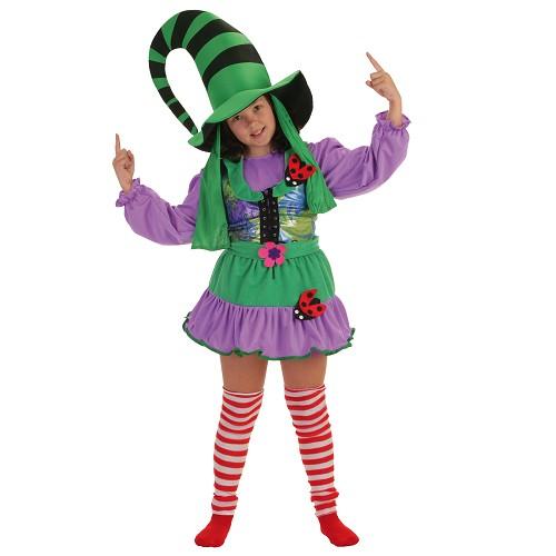 Fantasia de criança verde Duendecilla