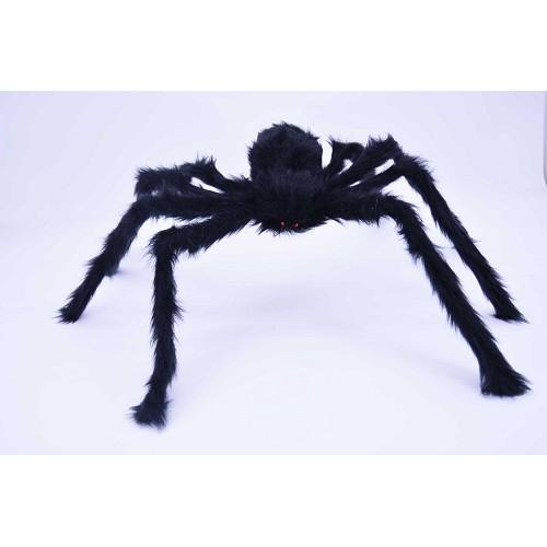 Aranha preta 90 cm olhos vermelhos H0033