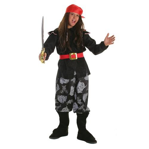Crânio de fantasia infantil pirata