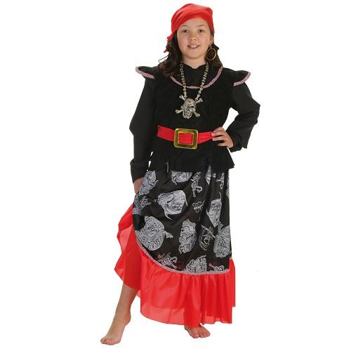 Caveira de pirata traje infantil